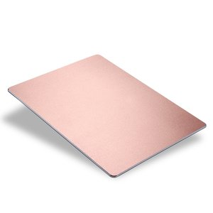 Slim aluminium anti-slim muismat - Rose goud